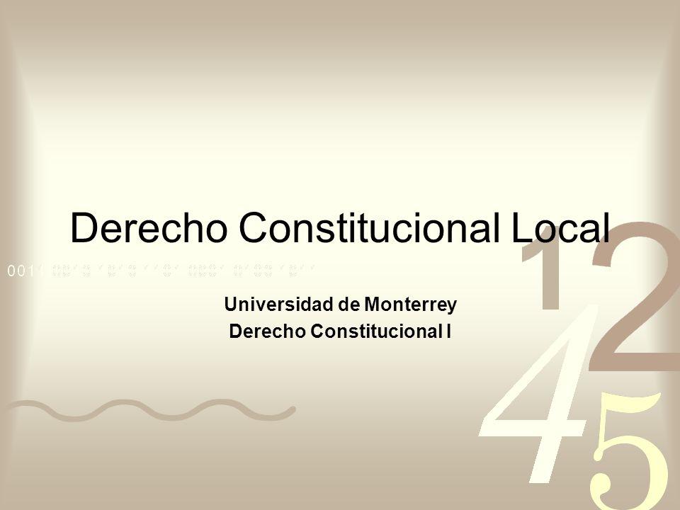 Derecho Constitucional Local
