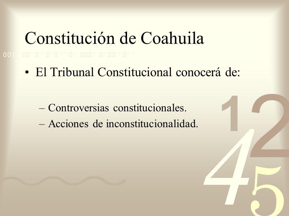 Constitución de Coahuila