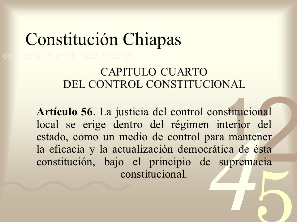 CAPITULO CUARTO DEL CONTROL CONSTITUCIONAL