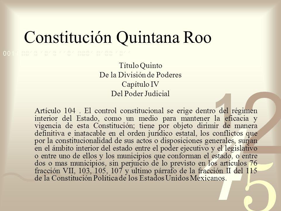 Constitución Quintana Roo