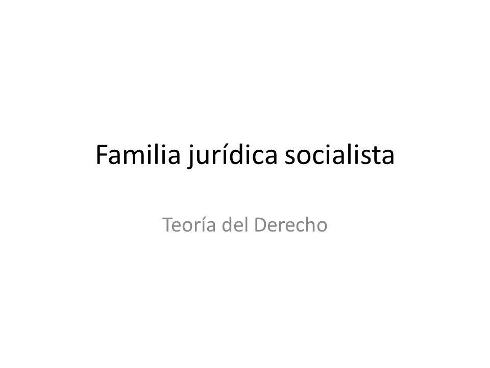 Familia jurídica socialista