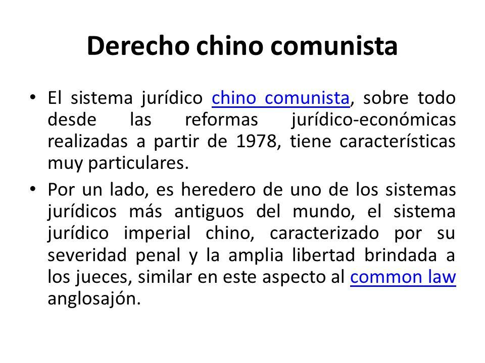 Derecho chino comunista