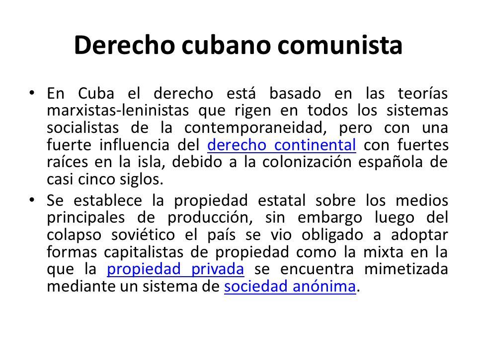 Derecho cubano comunista