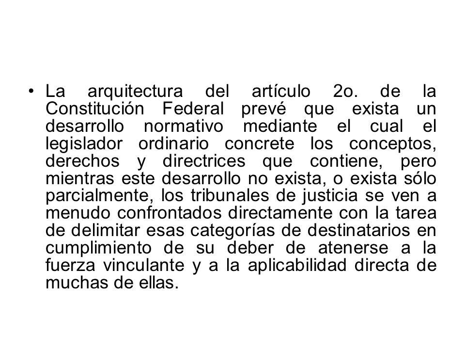 La arquitectura del artículo 2o