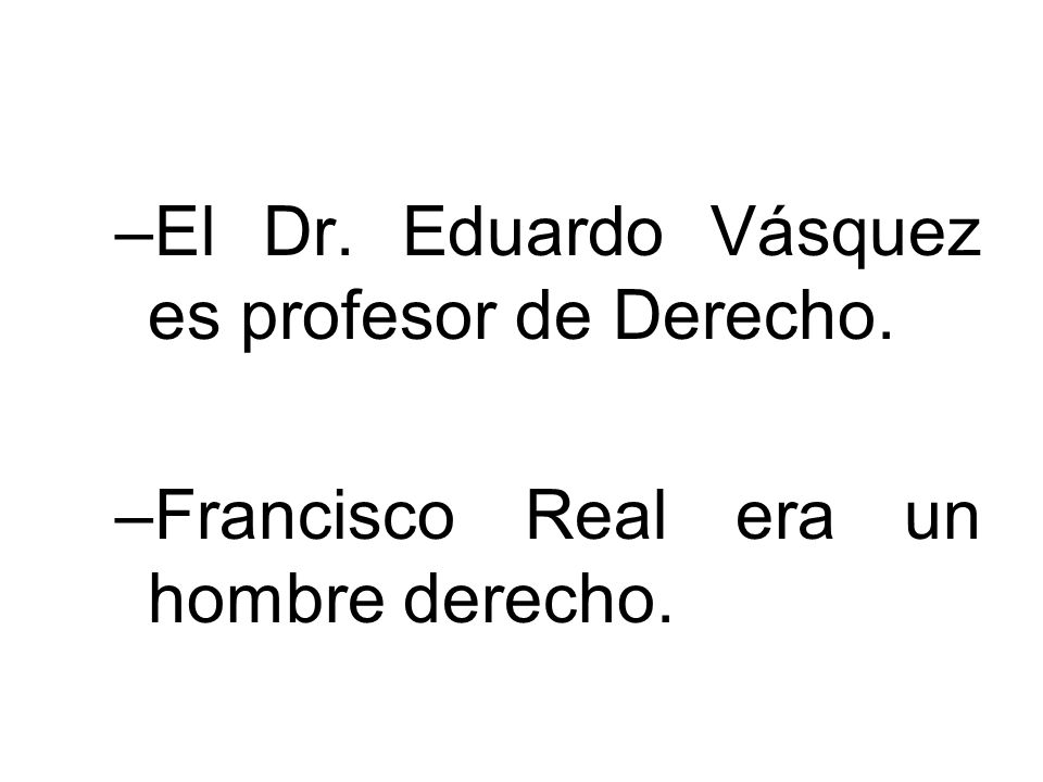 El Dr. Eduardo Vásquez es profesor de Derecho.