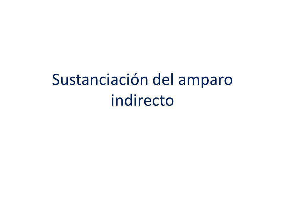 Sustanciación del amparo indirecto