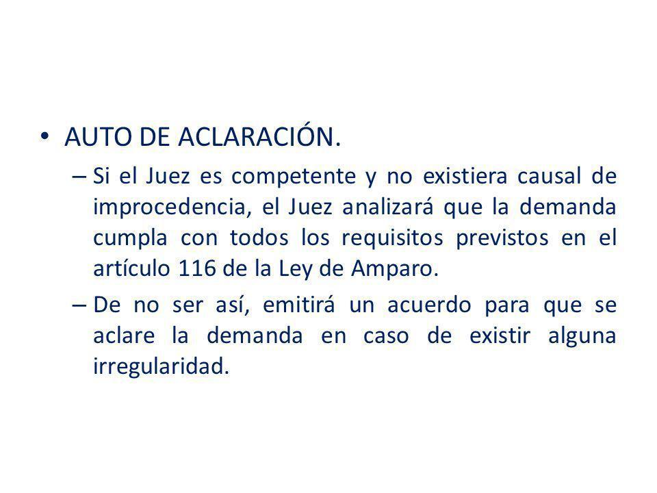 AUTO DE ACLARACIÓN.