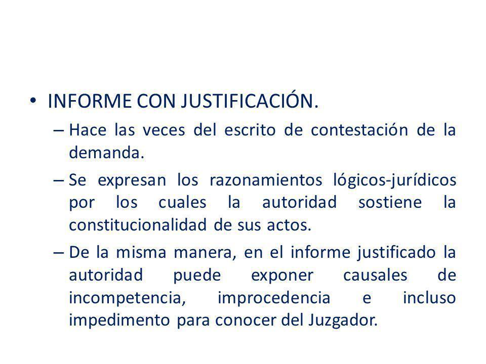 INFORME CON JUSTIFICACIÓN.