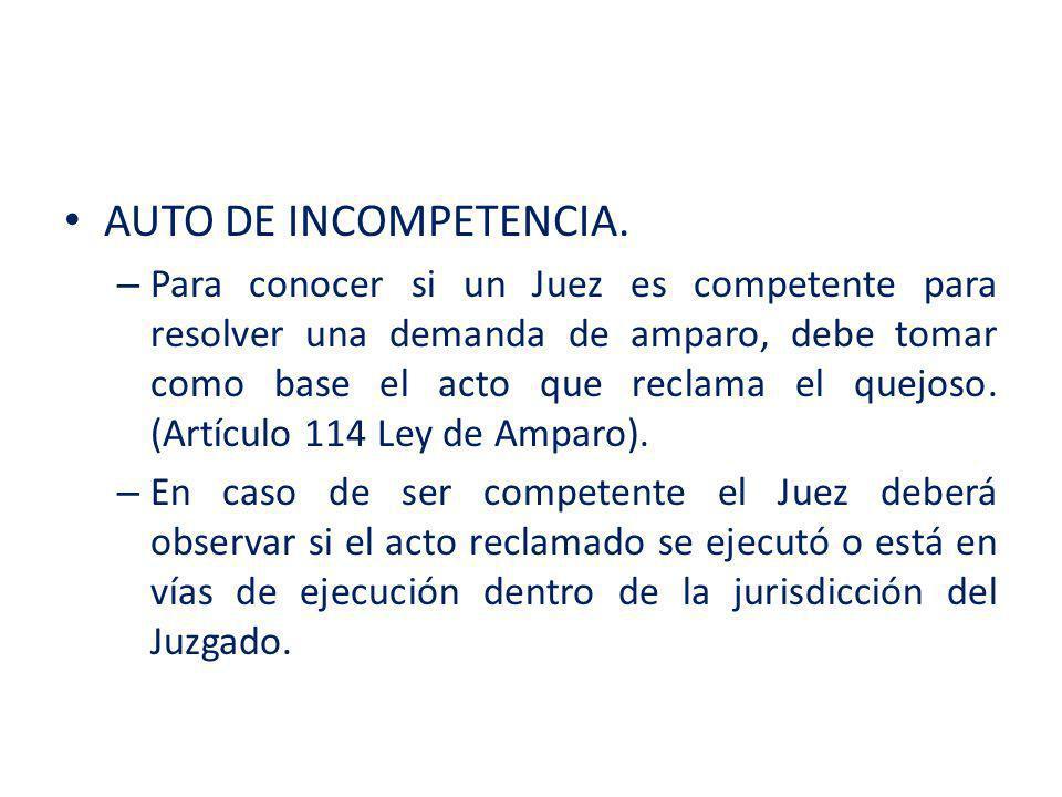 AUTO DE INCOMPETENCIA.