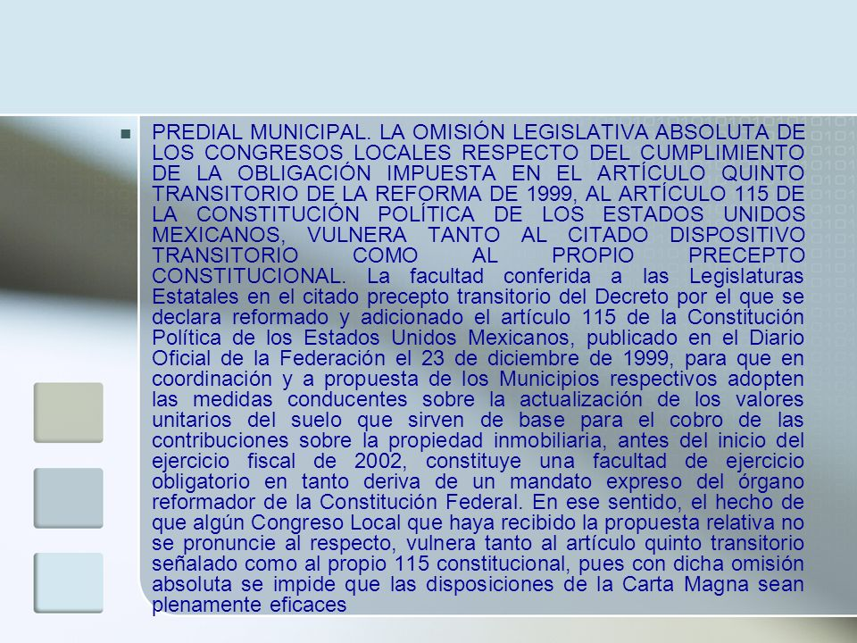 PREDIAL MUNICIPAL.