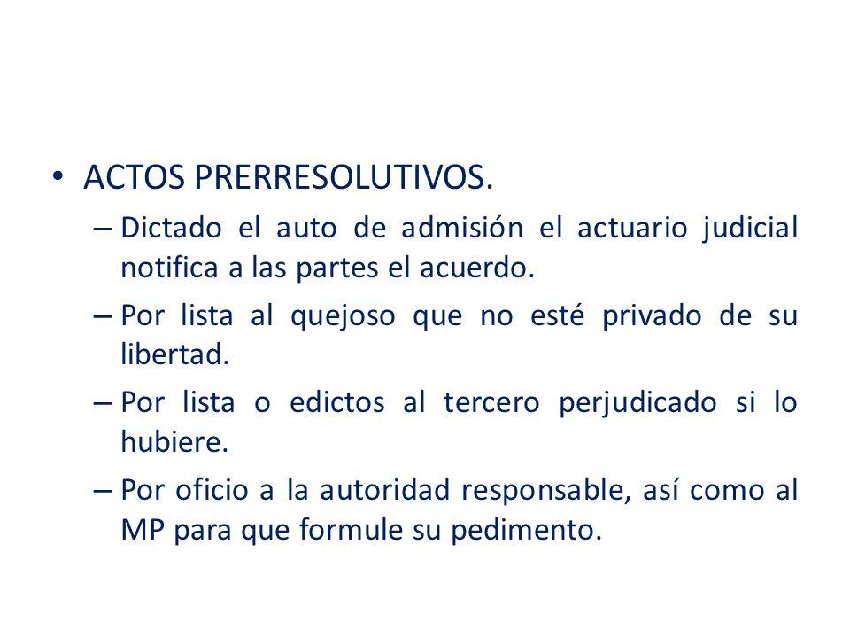 ACTOS PRERRESOLUTIVOS.