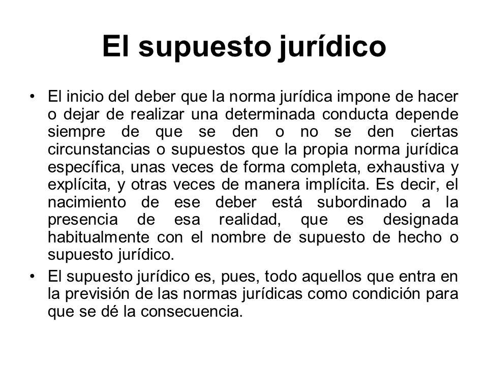 El supuesto jurídico