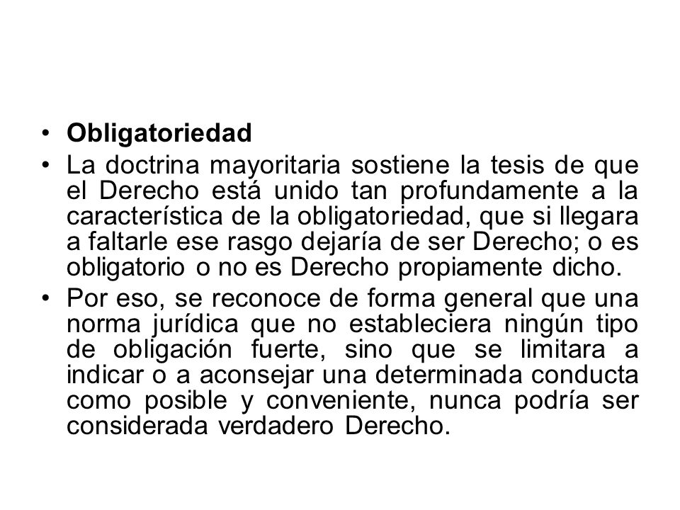Obligatoriedad