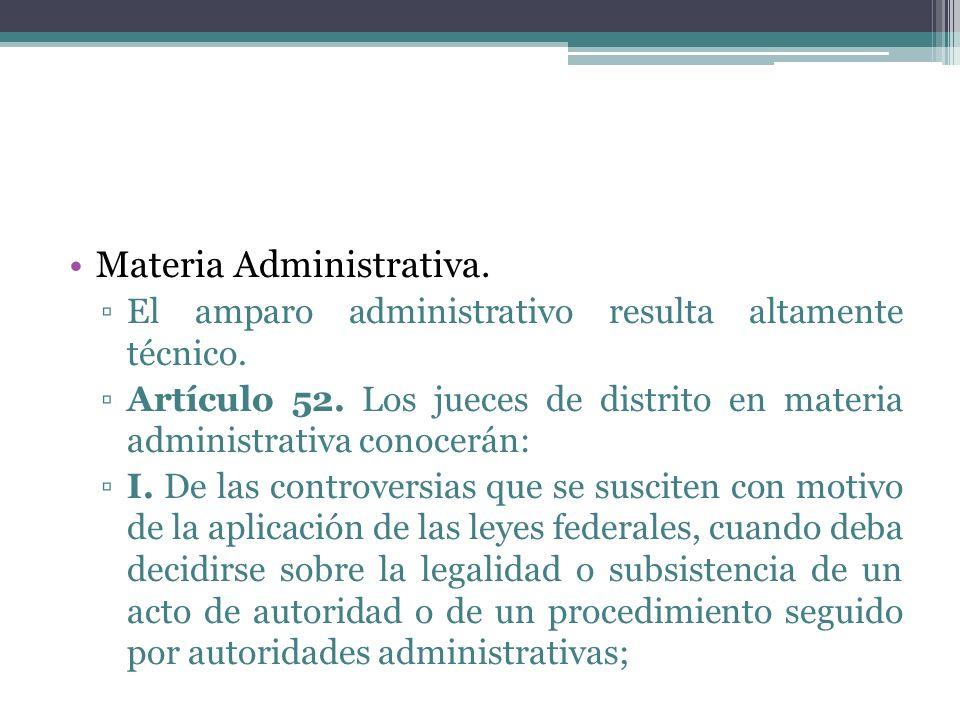 Materia Administrativa.