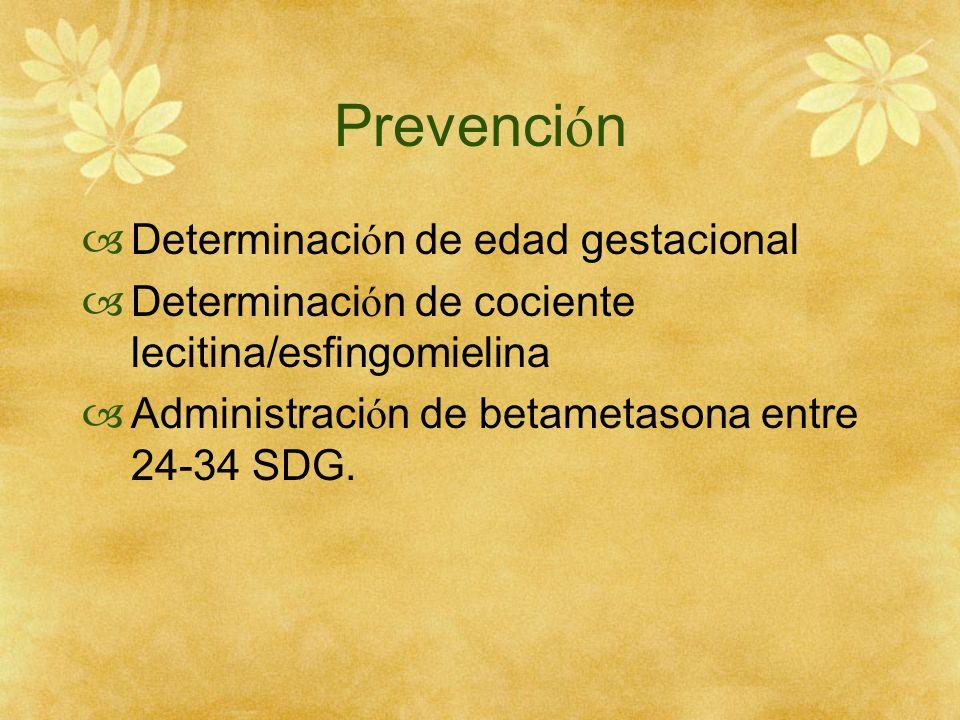 Prevención Determinación de edad gestacional