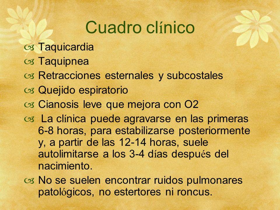 Cuadro clínico Taquicardia Taquipnea