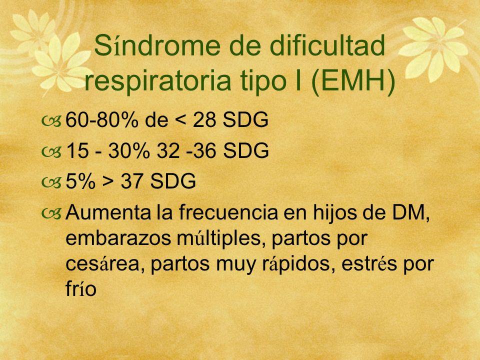 Síndrome de dificultad respiratoria tipo I (EMH)