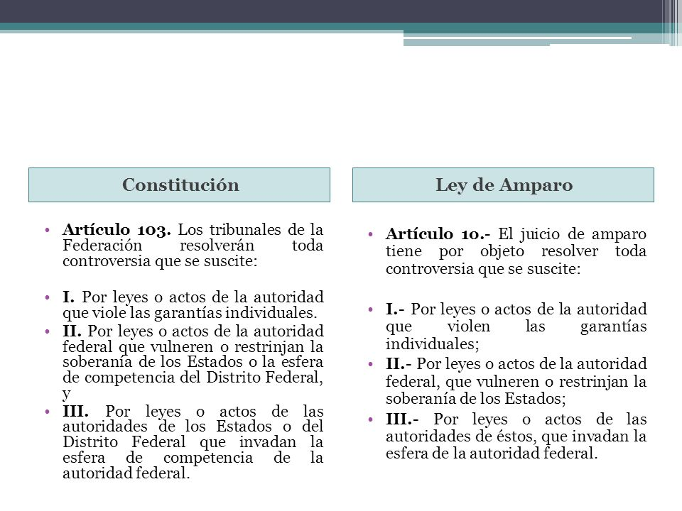 Constitución Ley de Amparo
