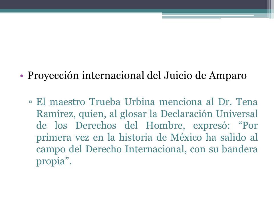 Proyección internacional del Juicio de Amparo