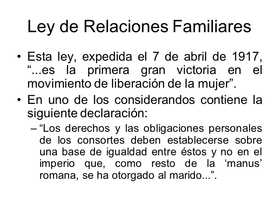 Ley de Relaciones Familiares