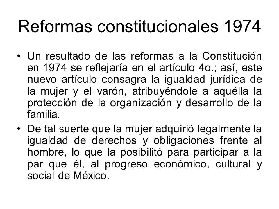 Reformas constitucionales 1974