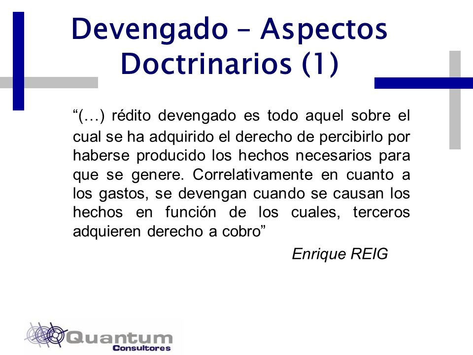 Devengado – Aspectos Doctrinarios (1)