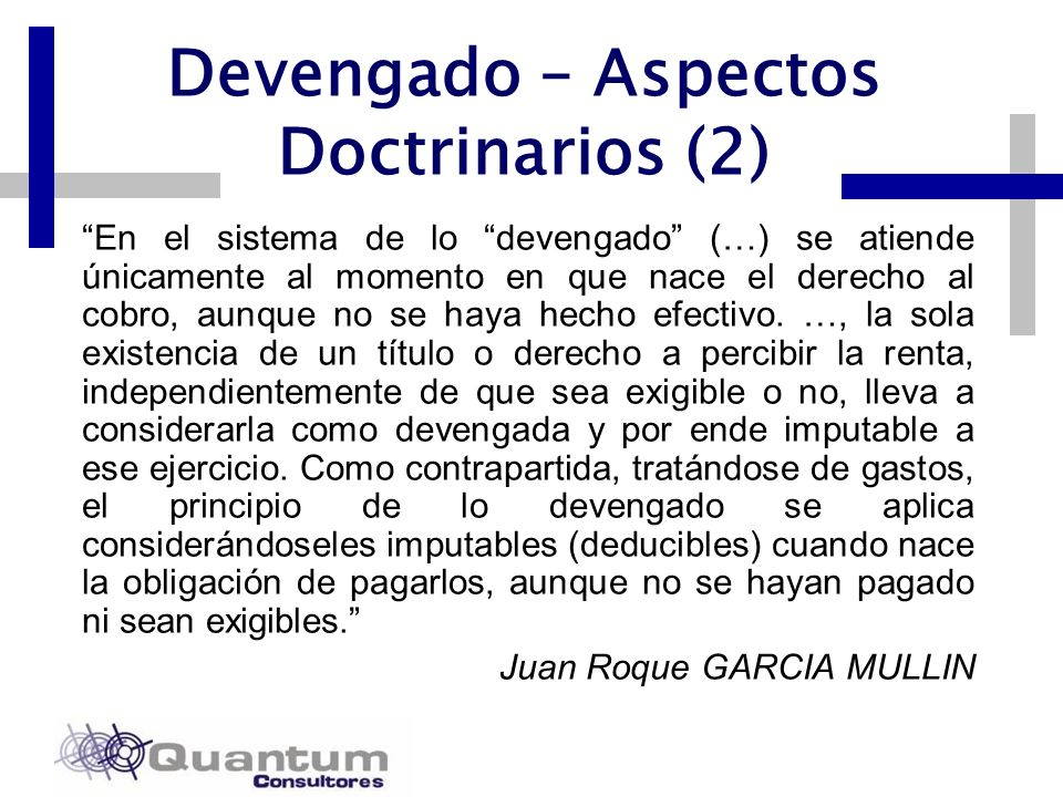Devengado – Aspectos Doctrinarios (2)