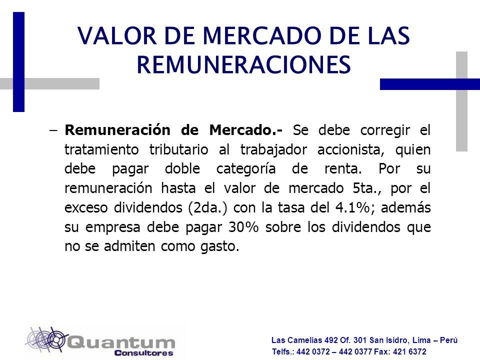 VALOR DE MERCADO DE LAS REMUNERACIONES