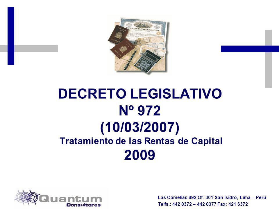 Tratamiento de las Rentas de Capital