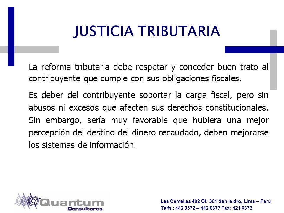 JUSTICIA TRIBUTARIA LINEAMIENTOS DE POLÍTICA TRIBUTARIA