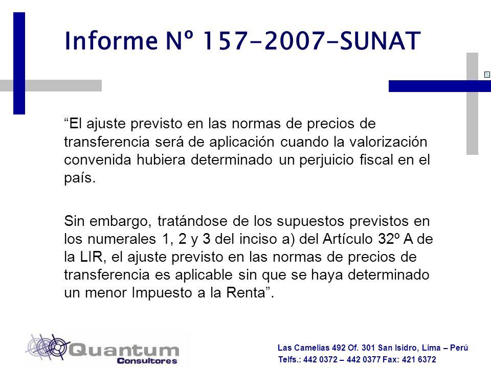 Informe Nº 157-2007-SUNAT