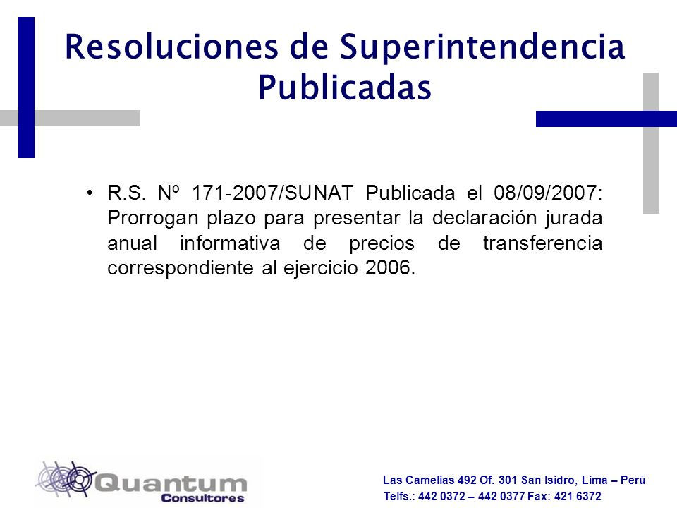 Resoluciones de Superintendencia Publicadas