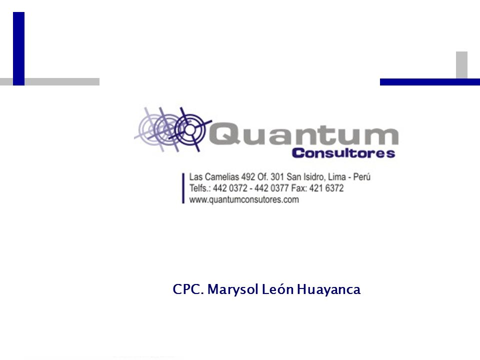 CPC. Marysol León Huayanca