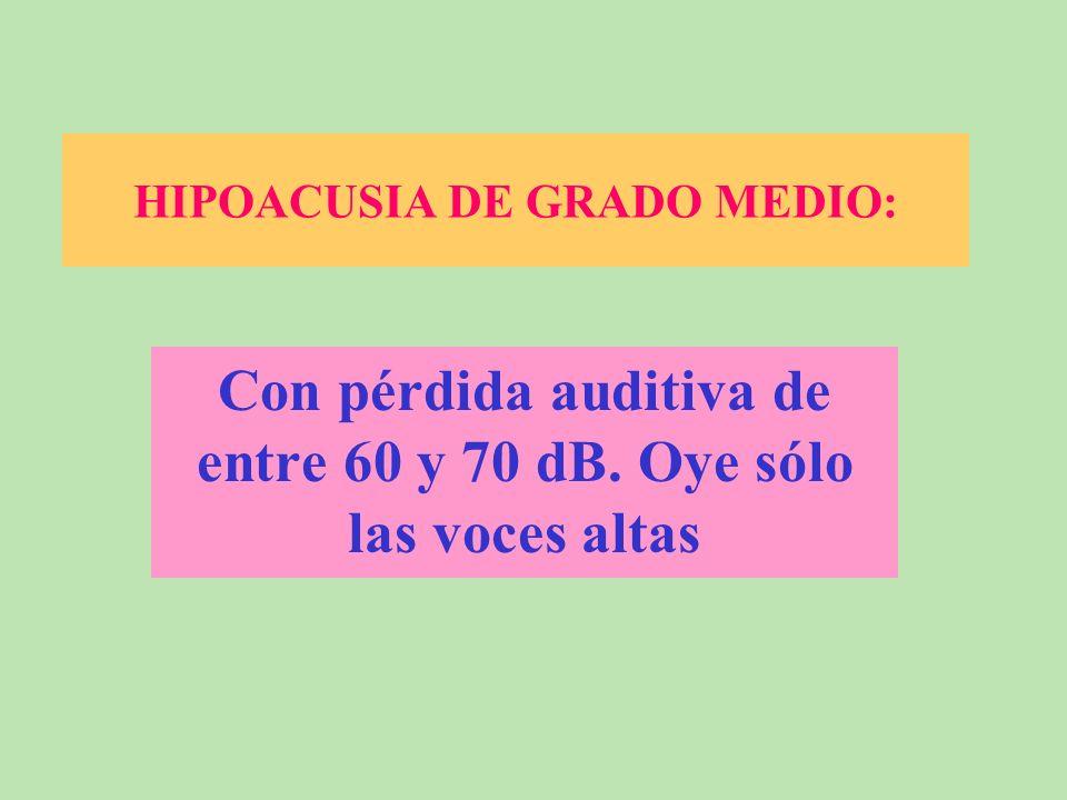 HIPOACUSIA DE GRADO MEDIO: