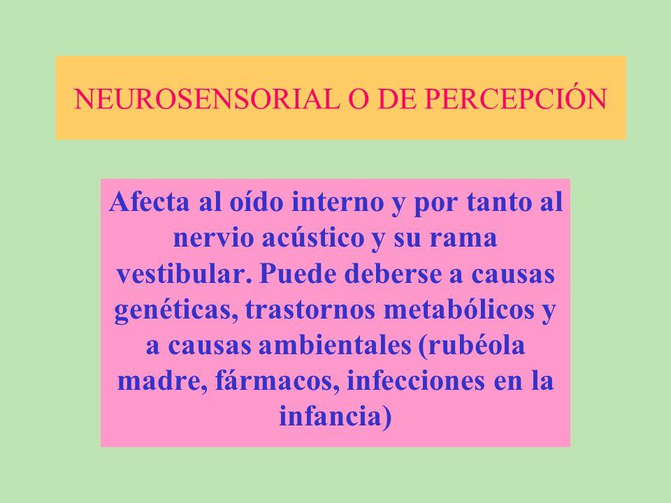 NEUROSENSORIAL O DE PERCEPCIÓN