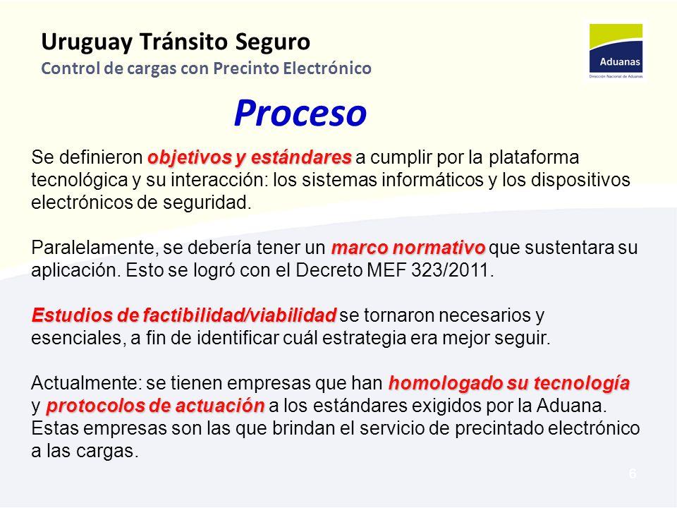 Uruguay Tránsito Seguro Control de cargas con Precinto Electrónico
