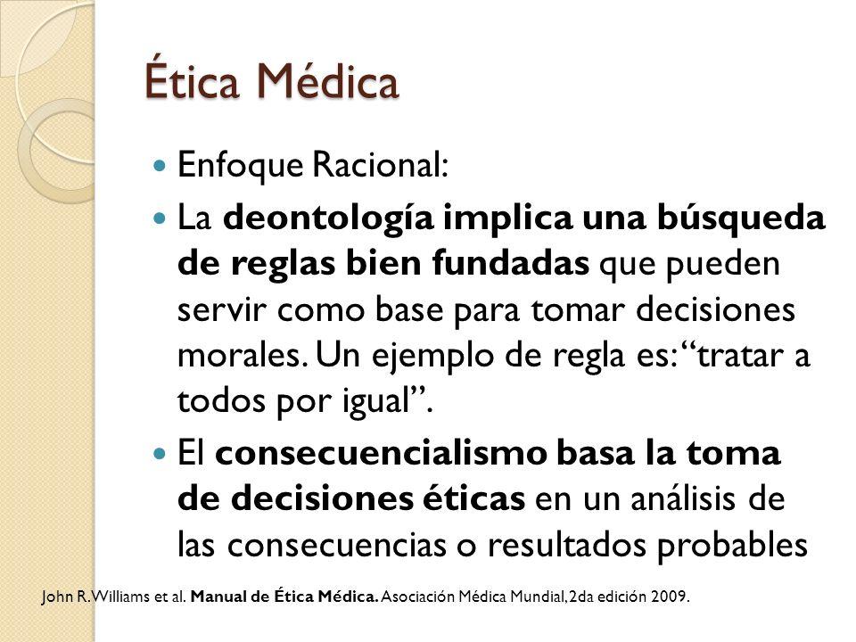Ética Médica Enfoque Racional: