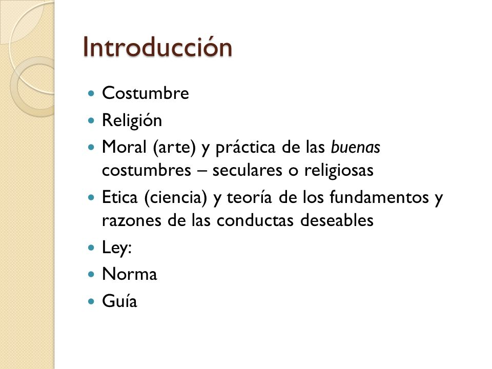 Introducción Costumbre Religión