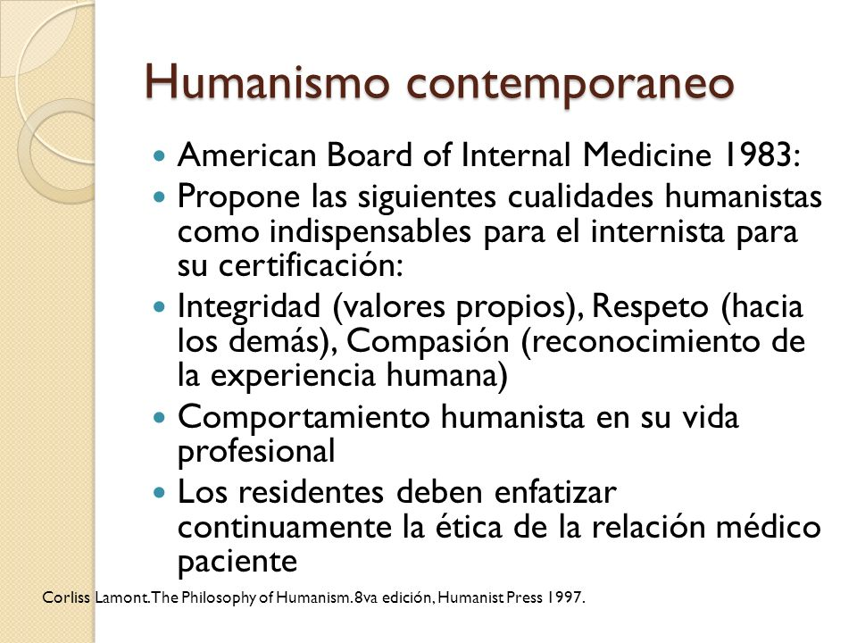 Humanismo contemporaneo
