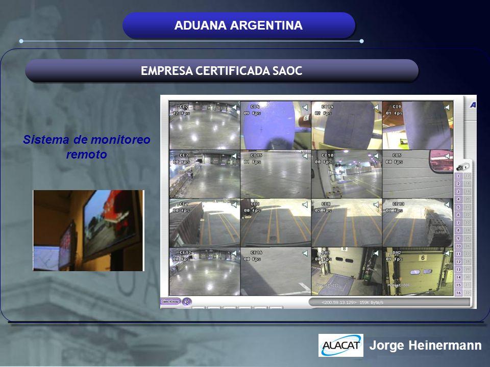 EMPRESA CERTIFICADA SAOC Sistema de monitoreo remoto
