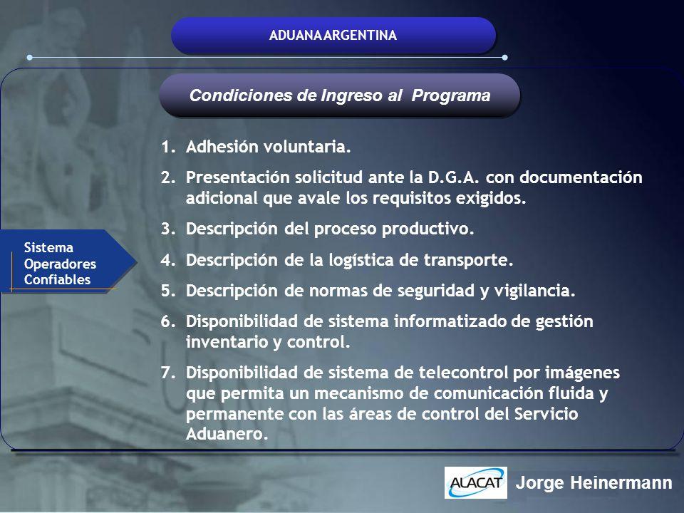 Condiciones de Ingreso al Programa