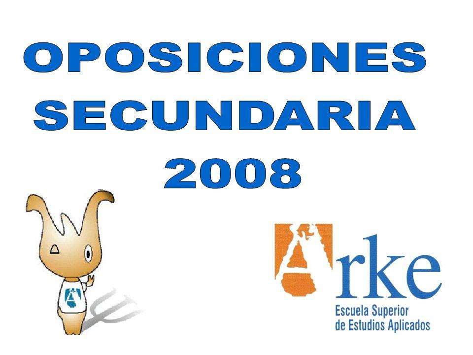 OPOSICIONES SECUNDARIA 2008
