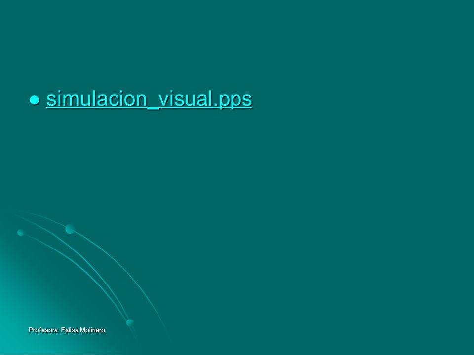 simulacion_visual.pps Profesora: Felisa Molinero
