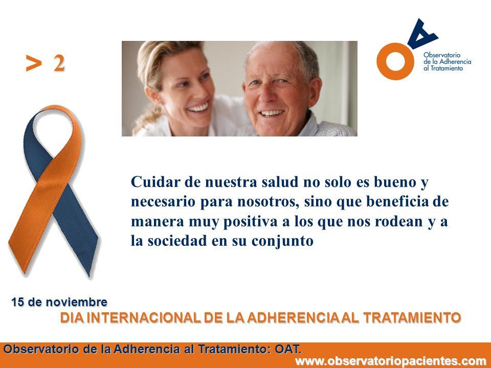 2 15 de noviembre. DIA INTERNACIONAL DE LA ADHERENCIA AL TRATAMIENTO.