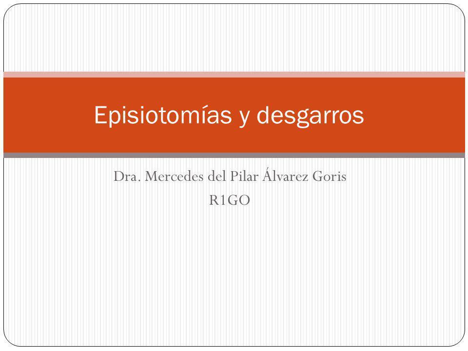 Episiotomías y desgarros
