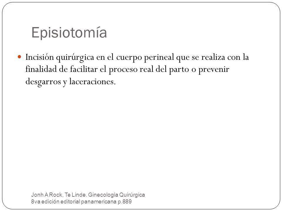 Episiotomía