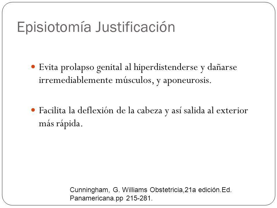 Episiotomía Justificación