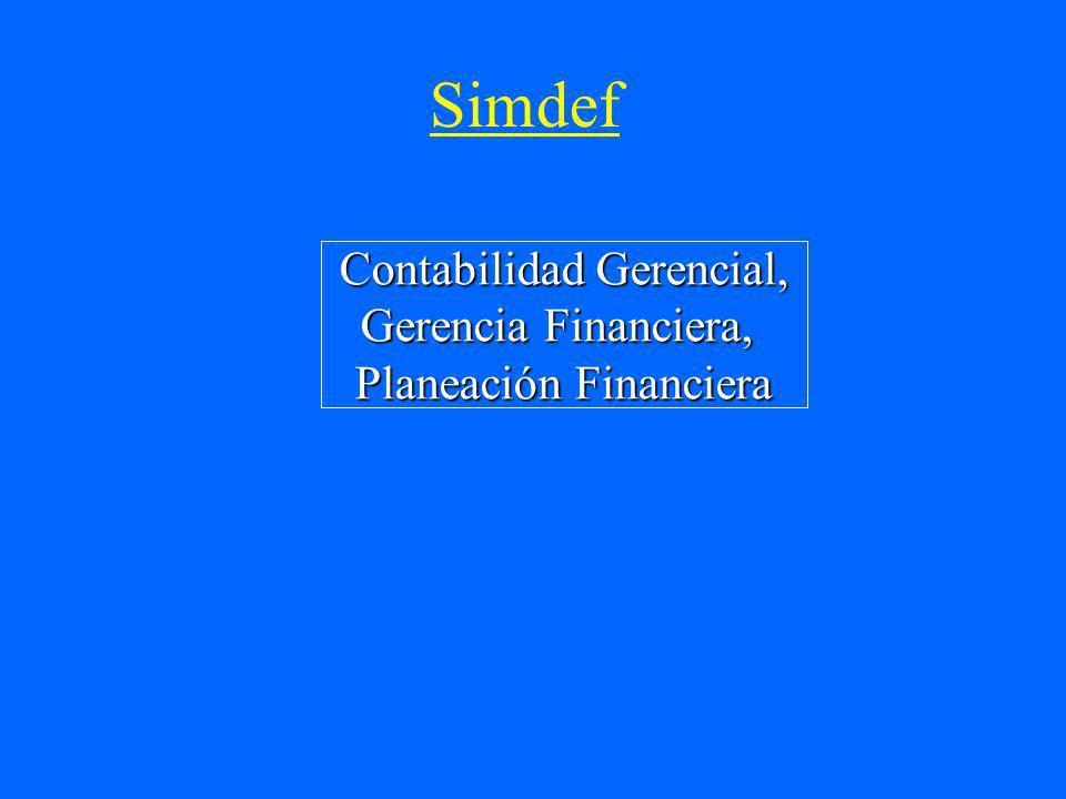 Simdef Contabilidad Gerencial, Gerencia Financiera,