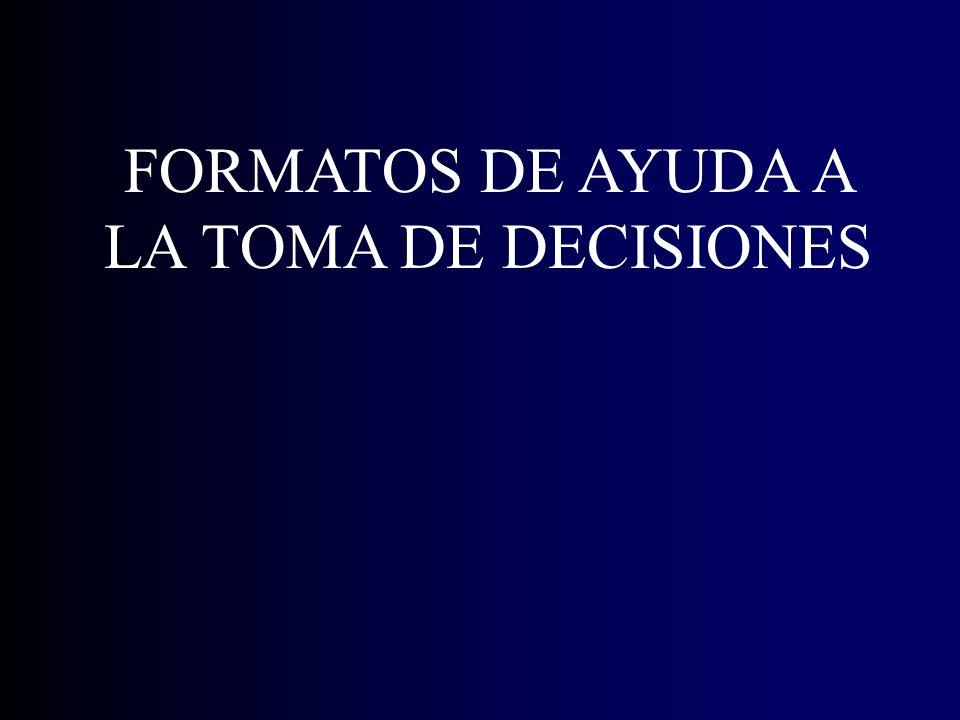 FORMATOS DE AYUDA A LA TOMA DE DECISIONES