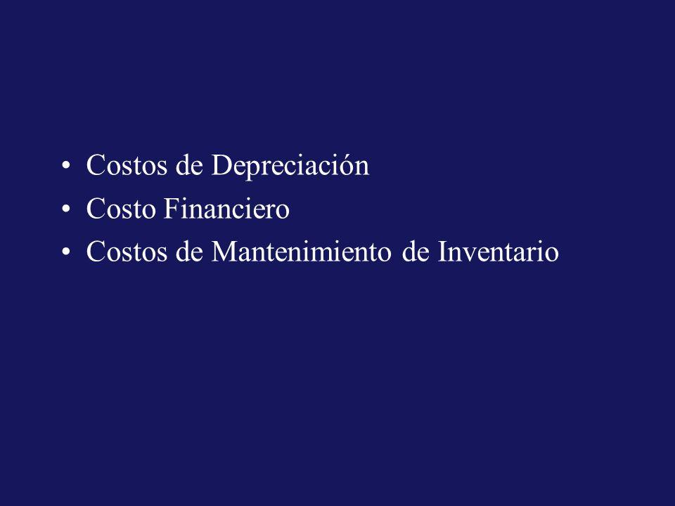 Costos de Depreciación